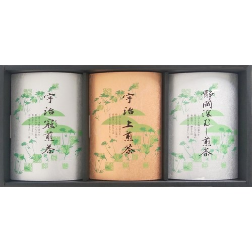 宇治 冠煎茶・宇治 上煎茶・静岡 深むし煎茶 (KG-40)