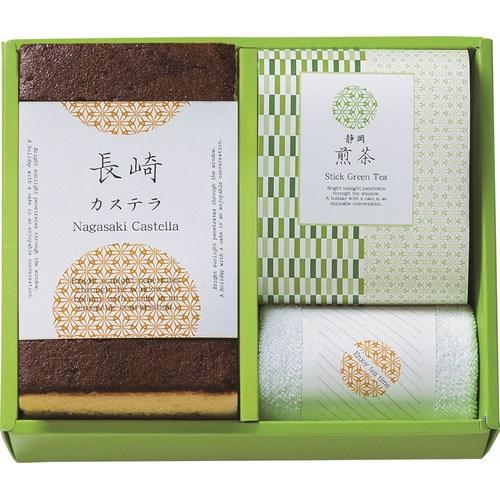 【送料無料】  カステラ&静岡煎茶スティックセット ( soumu_U12-06 )