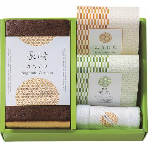 【送料無料】  カステラ&静岡煎茶&ほうじ茶スティックセット ( soumu_U12-07 )