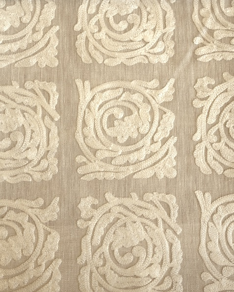 Pure Scroll Embroidery236612  136cmx1Mカットクロス(海外取寄せ)