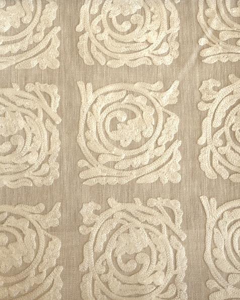 Pure Scroll Embroidery236612  136cmx1M以上10cm単位でカット販売(海外取寄せ)