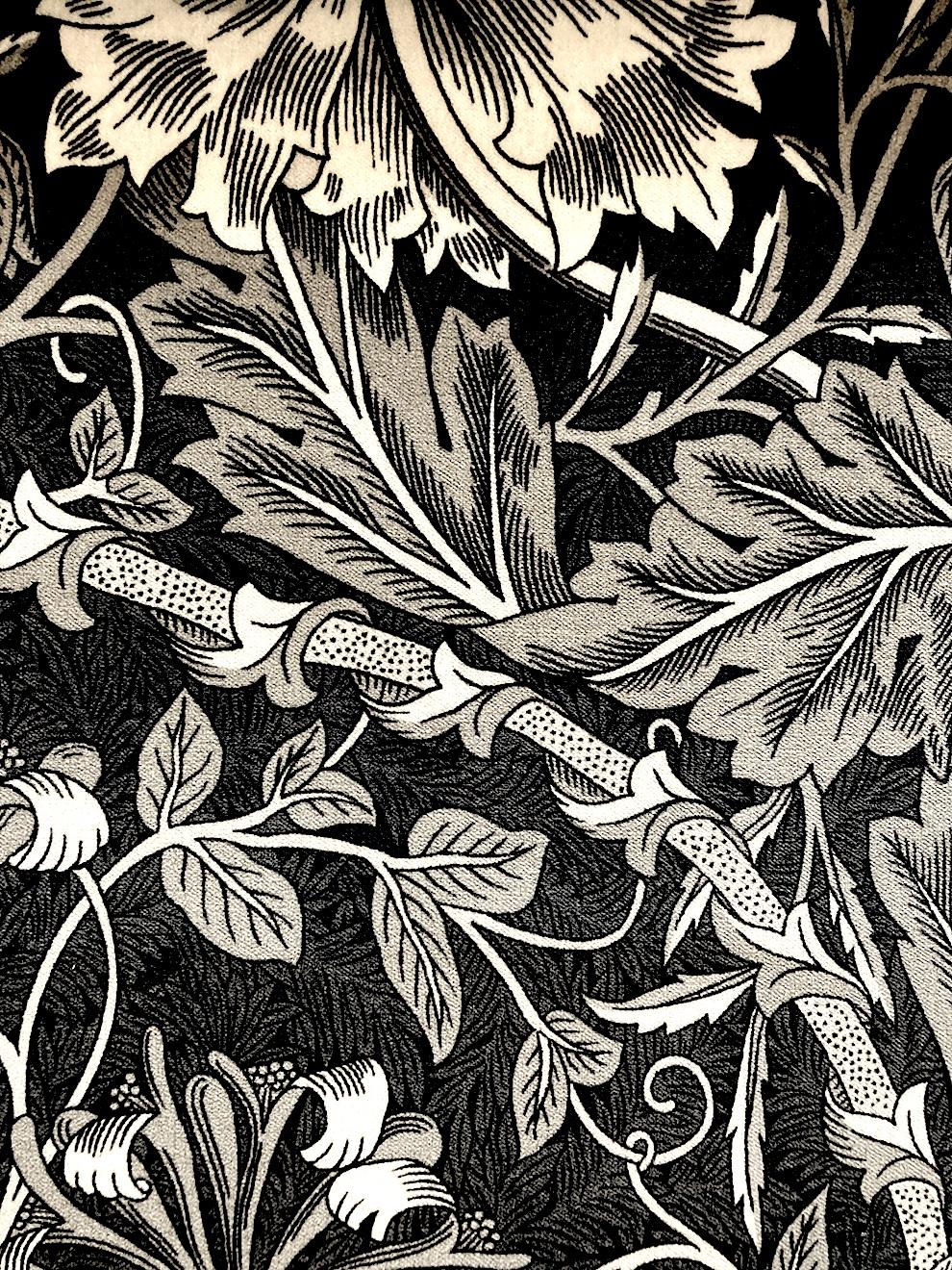 "W.モリス ベルベットプリントコレクション""Honeysuckle&Tulip Velvet236938 133cmx1m以上10cm単位でカット販売 (海外取寄せ)"