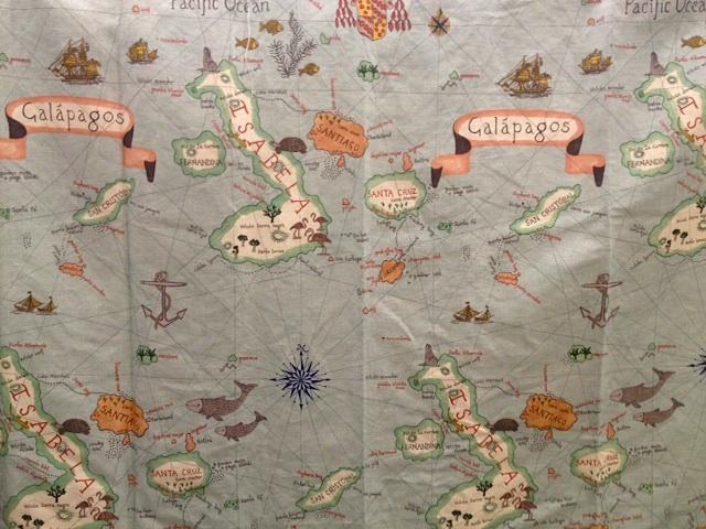 """生地""""Galapagos223277""""生地巾142cmx1mカットクロス(海外取寄せ)"""