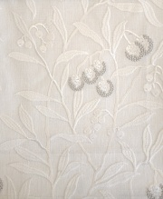 Pure Arbutus Embroidery236620 131cmx1Mカットクロス(海外取寄せ)