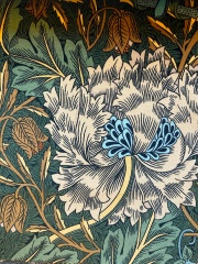 "W.モリス ベルベットプリントコレクション""Honeysuckle&Tulip Velvet236939 133cmx1m以上10cm単位でカット販売 (海外取寄せ)"
