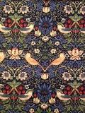 """MODA W.モリスコレクション""""Strawberry Thief #Blue110cm巾ツイル(10cmからカット致します) 会員登録+ご購入数10以上でさらに5%OFF!"""