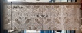 pure morris いちご泥棒刺繍柄で作ったカフェカーテン約128cmx45cm