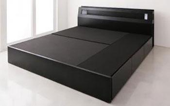 キングサイズ収納付きベッド【Leeway】リーウェイ【フレームのみ】キング