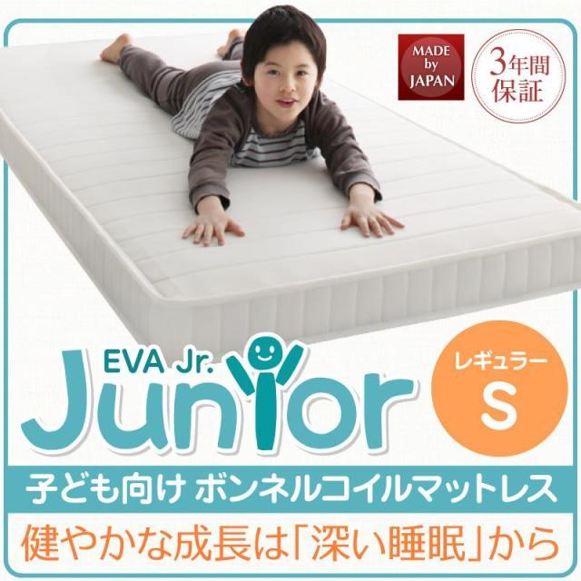 薄型・軽量・高通気 【EVA】 エヴァ ジュニア ボンネルコイル シングル レギュラー丈