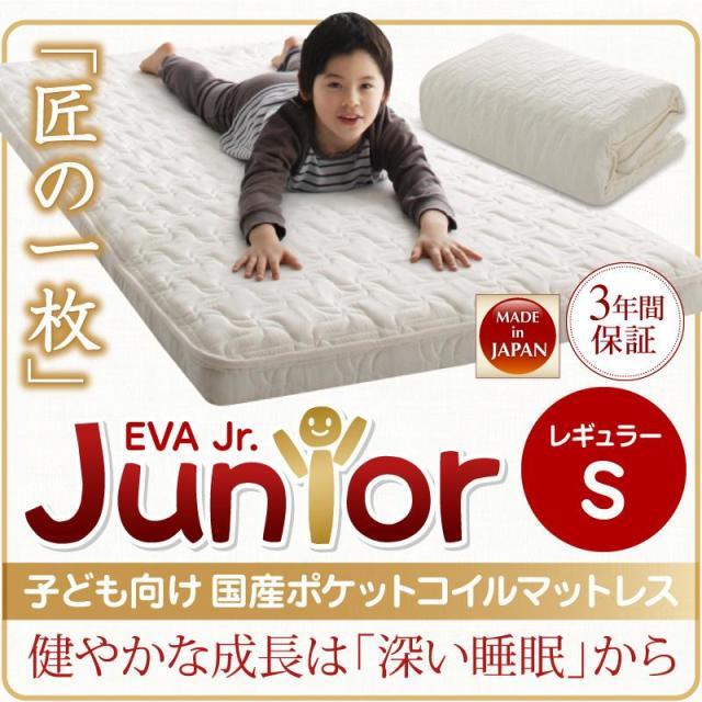 抗菌・薄型・軽量 【EVA】 エヴァ ジュニア 国産ポケットコイル シングル レギュラー丈