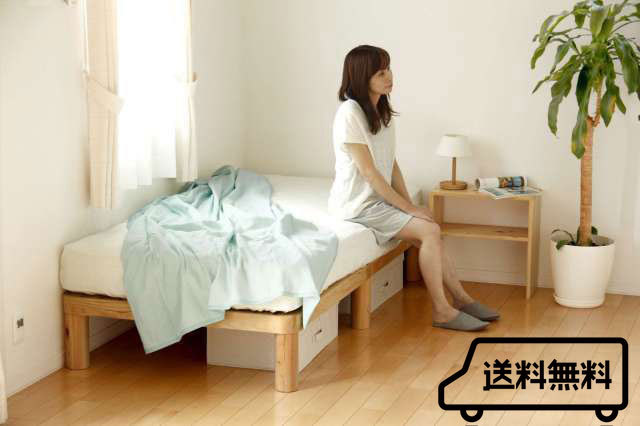 国産手作り ひのきの各丸すのこベッド