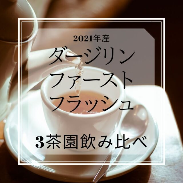 【DM便で送料無料・日時指定不可】2021年度産 ダージリンファーストフラッシュ三茶園飲み比べセット