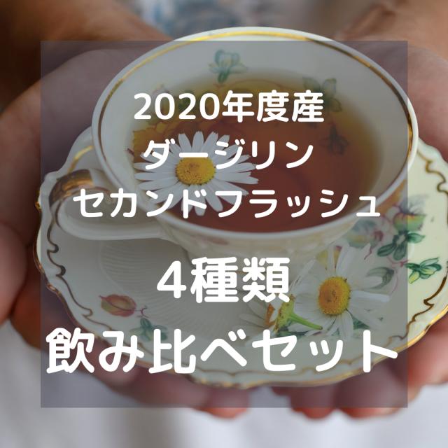 【DM便で送料無料・日時指定不可】2020年度産 ダージリンセカンドフラッシュ飲み比べ4種類セット