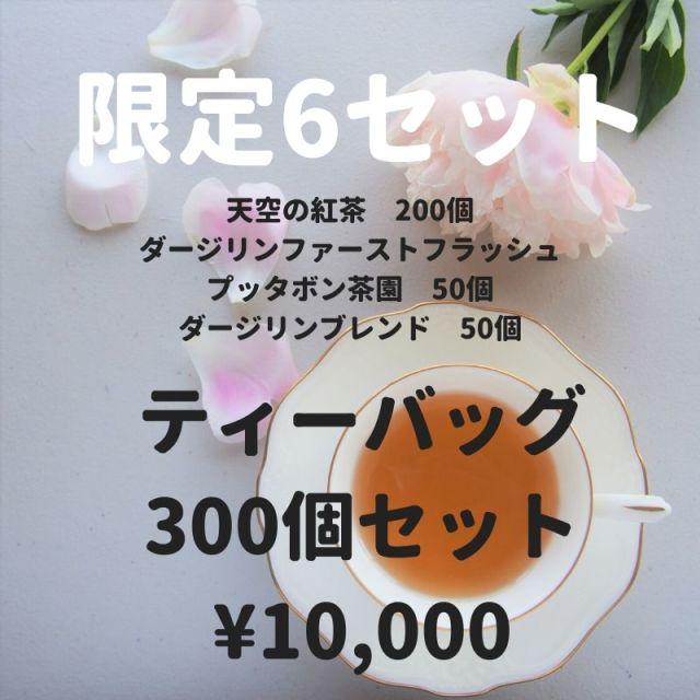 【限定6セット!】 天空の紅茶2gX200個(業務用ビニール袋入り)ダージリンファーストフラッシュ×50個ダージリンブレンド×50個