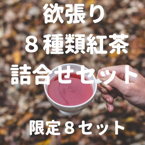 【限定8セット】8種類の紅茶をセットに! 欲張りセット