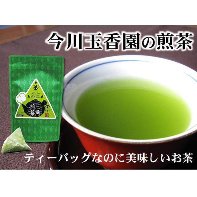 ティーバッグなのに美味しい三角煎茶・5g×12包<尾道・今川玉香園製>