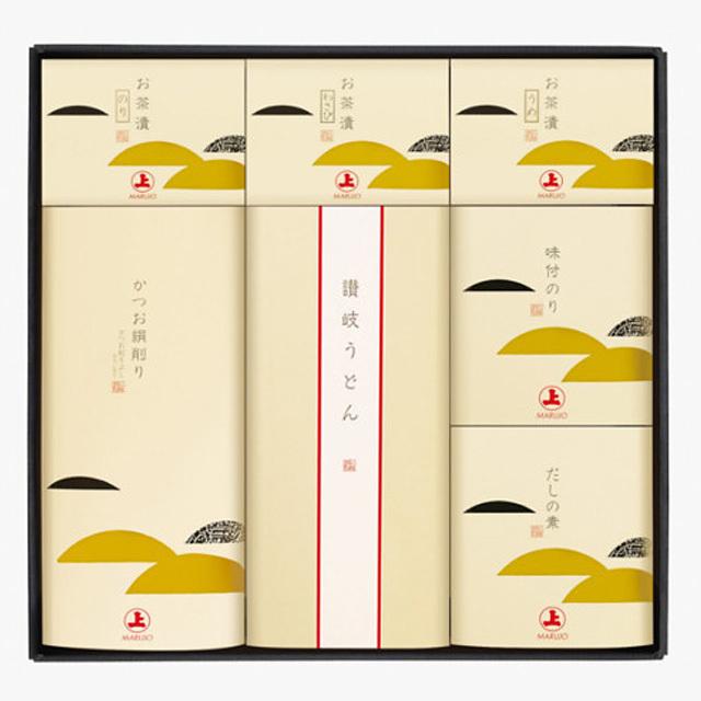 【鰹節ギフト】 和風味 A-50U (かつお節「絹削り」、3種のお茶漬け、味付けのり、だしの素、讃岐うどん)、お中元・お歳暮、季節の贈り物に