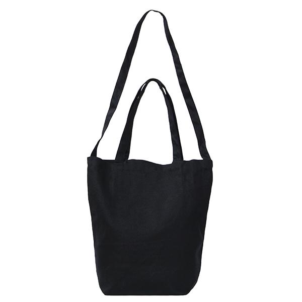 【SALE セール】2WAYトートバッグ   フリーサイズ   ブラック   綿   無地 黒【メール便(1枚まで)】