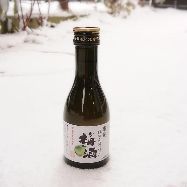 【180mlのお酒】浦霞 純米原酒に漬けた梅酒~極上梅酒、待望の小瓶登場!!!