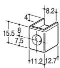 ROYAL チャンネルサポート断面保護キャップ(直付け施工用) CAS-1 クローム 10個売り