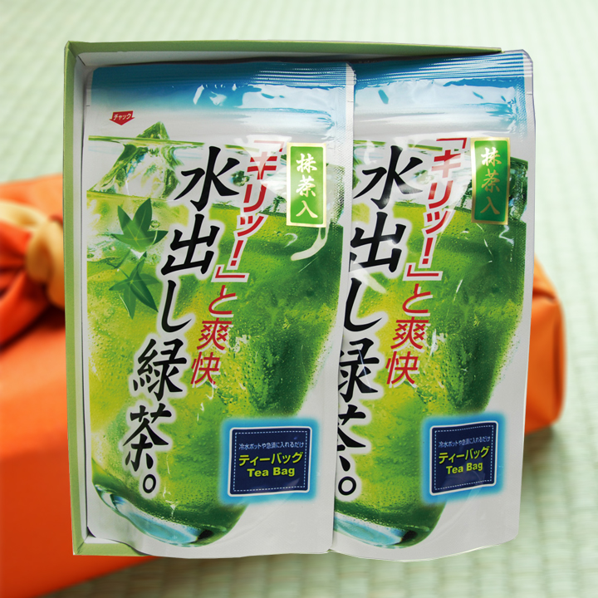 【贈答用】水出し煎茶ティ-バッグ2袋セット(5g×16ヶ入×2袋)
