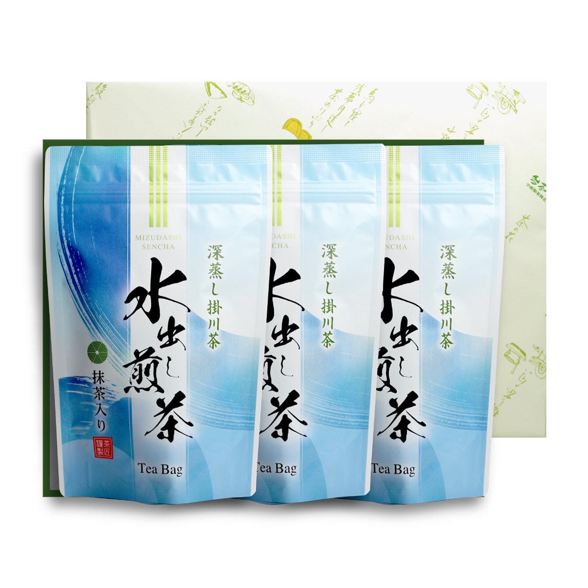 【贈答用】水出し煎茶ティ-バッグ3袋セット(5g×16ヶ入×3袋)