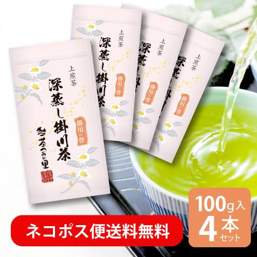 【送料無料】<深蒸し掛川茶>掛川の誉(100g袋入り)4本セット【インターネット限定】
