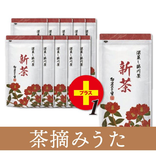 【予約商品】<新茶>茶摘みうた(100g袋入×11本)※10本価格で11本!<5月31日まで>