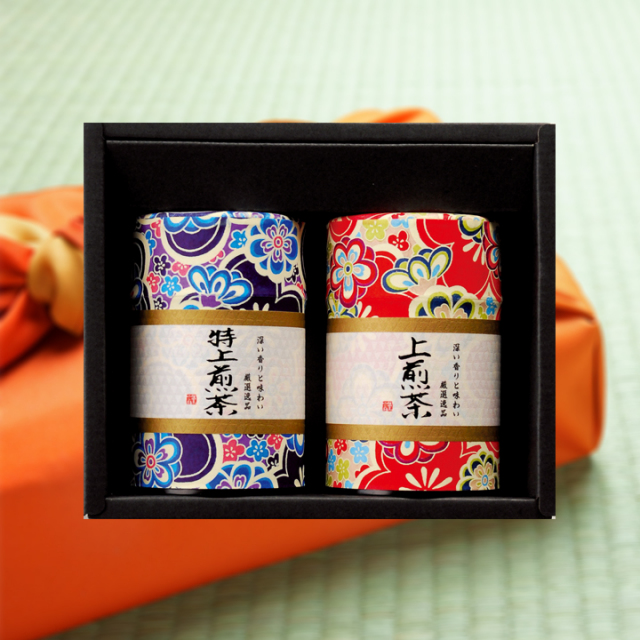 【贈答用】<深蒸し掛川茶>はんなり2缶セット(100g×2缶入)