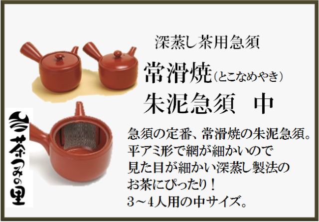 お茶屋さん推薦!!【常滑焼・朱泥急須】サイズ中:3~4人用(320ml)