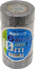 【オーム電機/OHM】DE19106H ビニールテープ  0.2mm19mm×10m  灰色 6巻パック