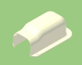 【関東器材/KANTO】 KD2-75A-10 出口化粧カバー2(後付用) 1箱10個入