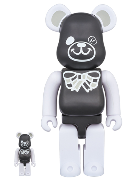 FREEMASONRY × fragmentdesign BLACKVer.  BE@RBRICK ベアブリック 100%&400%