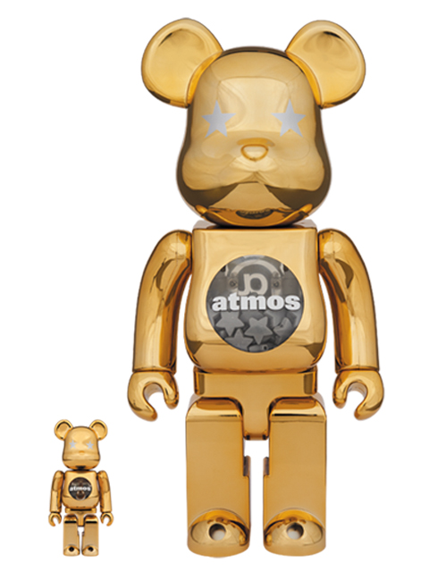 atmos GOLD CHROME BE@RBRICK ベアブリック 100%&400%