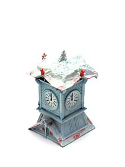 海洋堂 冬の北海道大物産展 雪の札幌時計台