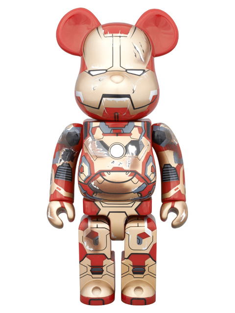WF2015(冬)限定 BE@RBRICK ベアブリック  IRON MAN MARK XLII(42) DAMAGE Ver.  400%