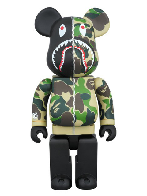 BAPE(R) CAMO SHARK BE@RBRICK ベアブリック グリーンVer. 400%