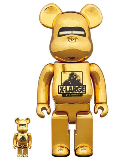 XLARGE(R) × HAJIME SORAYAMA BE@RBRICK ベアブリック 100%&400% GOLD