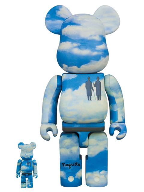 BE@RBRICK Rene Magritte 100% & 400% ベアブリック