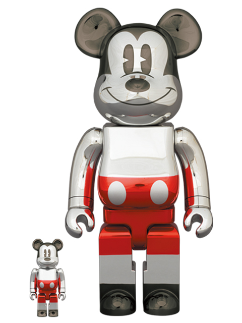 BE@RBRICK FUTURE MICKEY 2nd COLOR Ver. 100% & 400% ベアブリック