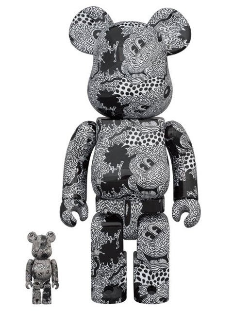 BE@RBRICK  ベアブリック Keith Haring Mickey Mouse 100% & 400%