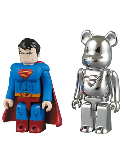 SUPERMAN KUBRICK & MAN OF STEEL BE@RBRICK 100% SET