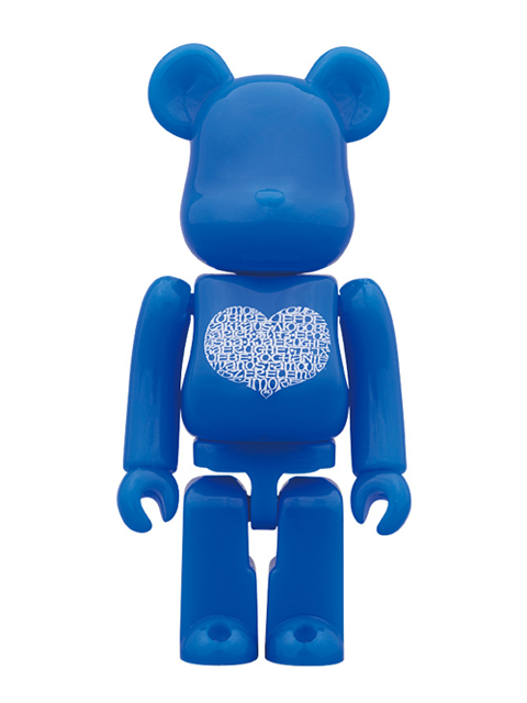 MEDICOM TOY 15th ANNIVERSARY EXHIBITION限定 International Love Heart Azur BE@RBRICK 100%