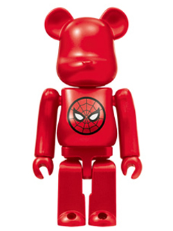 BE@RBRICK Happyくじ MARVEL 6.スパイダーマン ロゴバージョン ベアブリック 100%