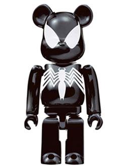 BE@RBRICK Happyくじ MARVEL L@ST賞 ブラックスパイダーマン メッキ仕様 ベアブリック 100%
