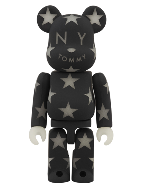 TOMMY BE@RBRICK ベアブリック 蓄光仕様 BLACK Ver. 100%
