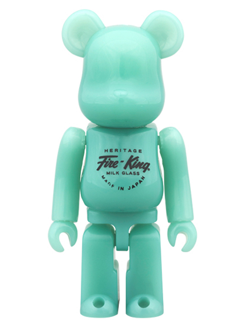 MEDICOM TOY EXHIBITION 2014限定 BE@RBRICK Fire-King JADE-ITE ベアブリック 100%