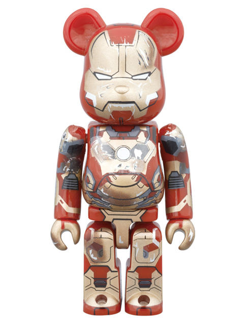 WF2015(冬)限定 BE@RBRICK ベアブリック  IRON MAN MARK XLII(42) DAMAGE Ver.  100%