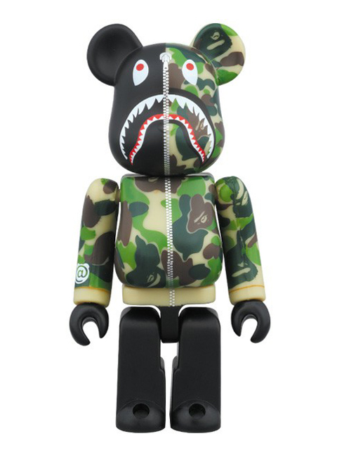 BAPE(R) CAMO SHARK BE@RBRICK ベアブリック グリーンVer. 100%