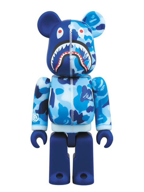 BAPE(R) CAMO SHARK BE@RBRICK ベアブリック ブルーVer. 100%